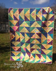 Huge Flying Geese with Layer Cakes Quilt Would like to do this with bright colours and all background in dove grey.