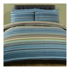 Chic Stripe Teal Printed Bedding
