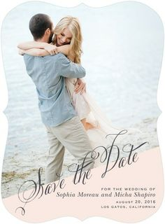 Signature White Save the Date Cards//