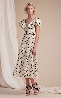 Butterfly Sleeve Midi Dress by GIAMBATTISTA VALLI for Preorder on Moda Operandi
