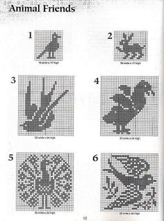 Ravelry: Frog Filet Crochet Chart Graph pattern by Maria Merlino