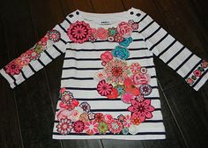 100th day of school shirt - embellished t shirt with 100 flowers
