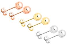 Sterling Silver Classic Ball Studs    Available in 3 Colors!  Starting at  $5.99 ($69.99)  91% OFF