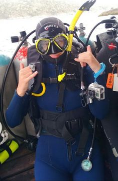 Scuba diving ladies in pantyhose