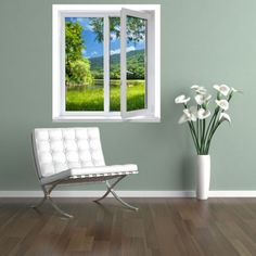 vinilos ventanas - naturaleza
