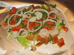 Pangasiusfilet mit Tomaten - Lauch - Gemüse in Folie gegart (Rezept mit Bild) | Chefkoch.de