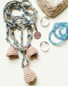 Martina crochet, collana fatta a mano all'uncinetto