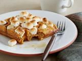 Sweet Potato Waffles with marshmallows!  A fun twist for fall!  Other waffle recipes here too