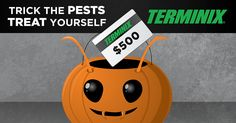 Checkout the @Terminix #TrickAndTreatGiveaway to win $500 in pest control or a $2,000 gift card! https://www.terminix.com/sweeps