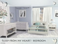 The Sims Resource: Sleep from my heart - Bedroom by Schedels-Asylum • Sims 4 Downloads