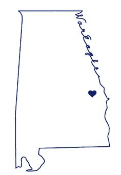Alabama outline #WarEagle