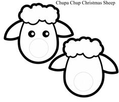 Christmas-Sheep-Craft-Blank.jpg (708×609)
