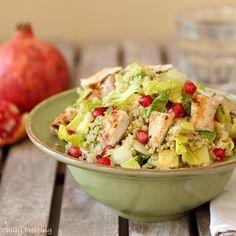 Quinoa Avocado Pomegranate Grilled Chicken Salad. To Make Vegan Gluten Free don't add the chicken!