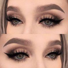 Eye Makeup Tips.Smokey Eye Makeup Tips - For a Catchy and Impressive Look Prom Eye Makeup, Clown Makeup, Skin Makeup, Wedding Makeup, Makeup Brushes, Beauty Makeup, Blue Makeup, Halloween Makeup, Witch Makeup