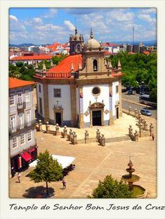 Templo do Senhor Bom Jesus da Cruz, Barcelos, Portugal - A baroque church right at the city center worth visit.  Tile painted interiors and golden altars are some of its elements.