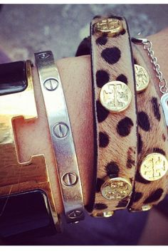 Obsessed with the Leopard Tory Burch bracelets..sooo cutee!