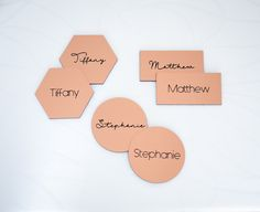 What's Your Wedding Style? Glam Details for the Perfect Luxe Wedding // Copper Wedding Place Cards by www.ZCreateDesign.com or Shop on Etsy by Clicking Pin
