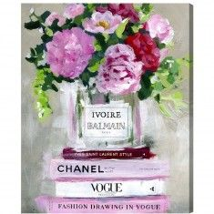 "Oliver Gal ""Floral V2"" Fashion Canvas Print Wall Art - Available in 6 Sizes from The Well Appointed House"