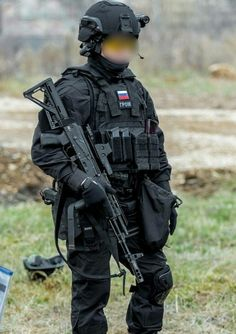 """Russian """"Grom"""" SF team member during one of recent competition. """"Grom"""" is Russian Federal anti-drug service special forces unit (FSKN) unit (nothing to do with Polish GROM, whish is polish army SOF). Photo by Konstantin Lazarev."""