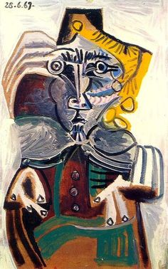 Pablo Picasso - Man Sitting in Chair 1, 1969
