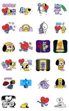 Tumblr Stickers, Kids Stickers, Printable Stickers, Cute Stickers, 2ne1, Bts Funny Videos, Culture Pop, Kpop Drawings, Big Bang