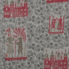 The House Directory  This delightful fabric, Nonsuch Palace, is based on an original 18th Century English block print, and depicts Henry VIII's magnificent palace which only survived 150 years and then acquired almost mythical status. It's from Nushka's wonderful collection of fabrics for curtains and upholstery: www.nushka.co.uk