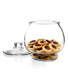 House cookies and other baked goods using this large jar that features a glass cover to keep your culinary creations fresher for longer. Includes jar and H x diameterHolds 1 gal. Funky Kitchen, Kitchen Dinning, Kitchen Stuff, Kitchen Ideas, Glass Storage Jars, Jar Storage, Storage Ideas, Kitchen Pantry Storage, Kitchen Must Haves