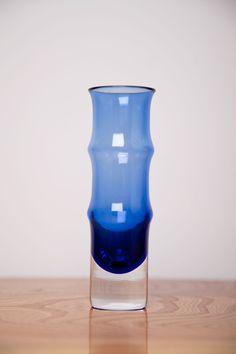 Scandinavian Vintage Riihimaki Vase 1379 By Erkkitapio Siiroinen Rare Aubergine Colour