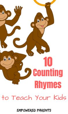 Counting Songs to Teach Your Kids 10 Counting Rhymes to teach your Counting Rhymes to teach your kids Numbers Preschool, Preschool Songs, Preschool Learning Activities, Toddler Learning, Early Learning, Preschool Activities, Teaching Kids, Toddler Counting, Rhyming Kindergarten