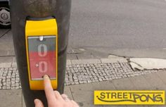 Play Pong at Pedestrian Crossing in Germany
