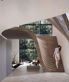 impressive staircase design inspirations for your house 19 Interior Design Inspiration, Home Interior Design, Interior Decorating, Design Ideas, Stairway Decorating, Luxury Interior, Interior Ideas, Exterior Design, Design Design