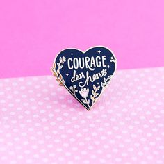 Hey, I found this really awesome Etsy listing at https://www.etsy.com/listing/501826984/courage-enamel-pin-narnia-pin