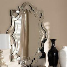House of Hampton Jerrod Wall Mirror Silver Wall Mirror, Beveled Mirror, Beveled Glass, Octagon Mirror, Mirror House, Floor Mirror, Wall Mirror Online, Mirrors Wayfair, Venetian Mirrors