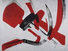 Silkscreen ink on synthetic polymer paint on canvas   Hammer and Sickle  Andy Warhol (American, 1928–1987)