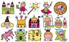 Stampo minos colección  princesas coloreada