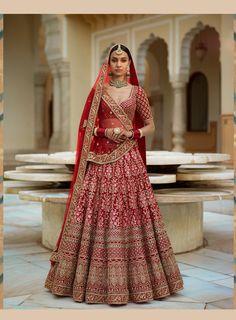 Sabyasachi Inspired Red Color Wedding Lehenga Choli | Etsy