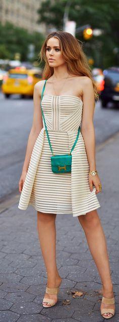 #street #style summer / Elie Saab dress + Hermès @wachabuy