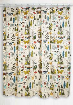 Decor on Display Shower Curtain - Cotton, Woven, Multi, Rustic, Better, Novelty Print, Floral, Boho, Summer, Colorsplash