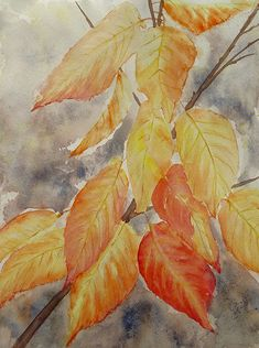 Autumn Leaves, Watercolors, Painting, Beautiful, Art, Leaves, Shop Signs, Kunst, Art Background