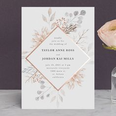 """""""Ascent"""" - Foil-pressed Wedding Invitations in Bloom by Poi Velasco."""