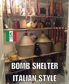 Bomb shelter Italian style