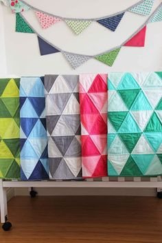 V and Co.  to the point ombre color block fabric