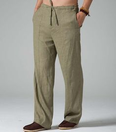casual menspring linen pants plus size leisure by Sunflowercloth, $118.00