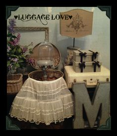 Contact Making Over Martha to rent vintage luggage AND let us help you style it at your next event  ♥ ♥ (we have several lovely pieces!!) #MakingOverMarthavintagerentals #vintageluggagerental #vintagesuitcaserental #vintagerentalsDFW