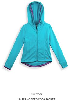 A hint of stretch and pretty color make this cool-weather jacket a must have for gals on the go. The cozy hood adds extra warmth when needed. Fall Collections, Hooded Jacket, Hoods, Yoga Girls, Fall 2015, Pretty, Sweaters, Jackets, Pullover
