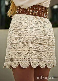 Crochet A-line Mini Skirt Free Pattern- Crochet Women Skirt Free Patterns (Top Moda Crochet) Skirt Pattern Free, Crochet Skirt Pattern, Crochet Skirts, Crochet Clothes, Free Pattern, Skirt Patterns, Crochet Patterns Free Dress, Dress Patterns Women, Crotchet Patterns