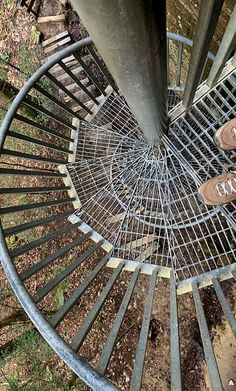 Spiral staircase was a fun and challenging way to get to the path to Greeter Falls. A beautiful hike in Tennessee. Hiking In Georgia, Affordable Wall Art, Spiral Staircase, Evergreen, Tennessee, Paths, Original Artwork, City Photo, Landscape