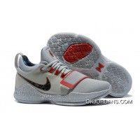 meet 1abd6 b81f7 Nike Pg 1 Gladiator Pe Grey Red Pg Basketball Shoes Best