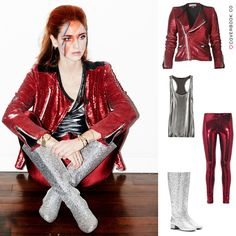 Get exclusive invite for coverbook.co / Fantastic Chiara Ferragni rocks David Bowie look! Wearing: Boots - Saint Laurent ; Trousers - American Apparel; Top - American Apparel; Jacket - Iro Sequined; Photos by Andrew Arthur