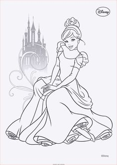 disney prinzessin - cinderella   cartoon coloring pages, coloring pages, drawings